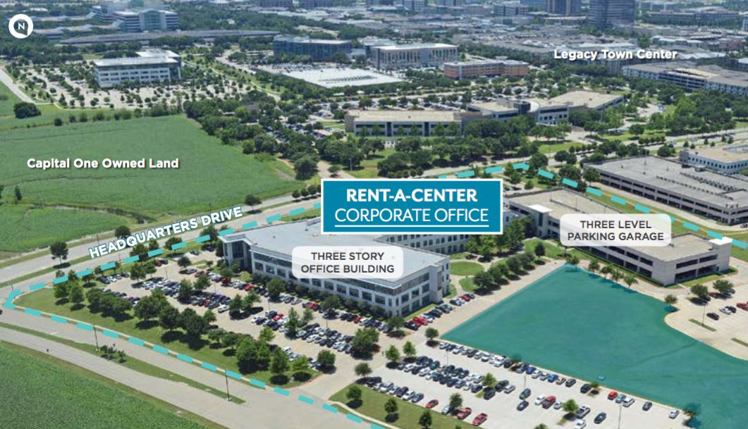 The Rent-A-Center campus is on 17 acres.