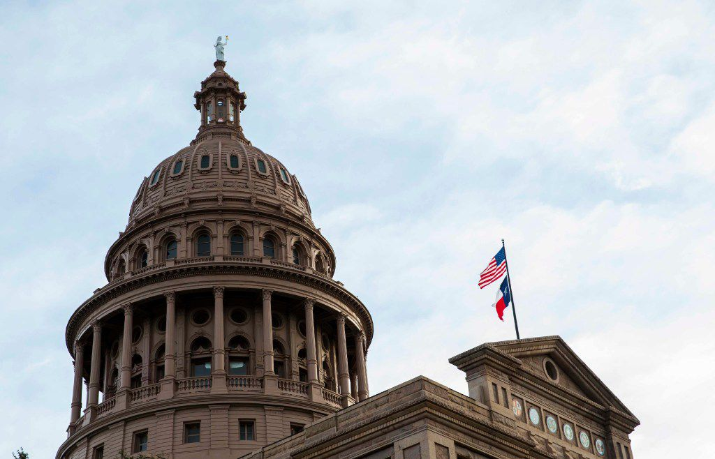 The Texas State Capitol building on the first day of the 85th Texas Legislative Session on Jan. 10.