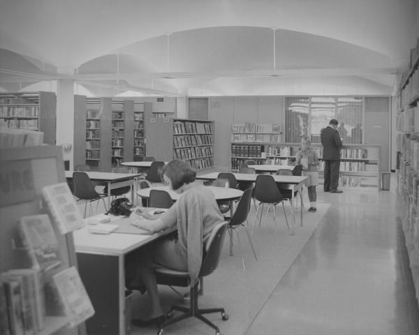 The Preston Royal library is shown in its early days.