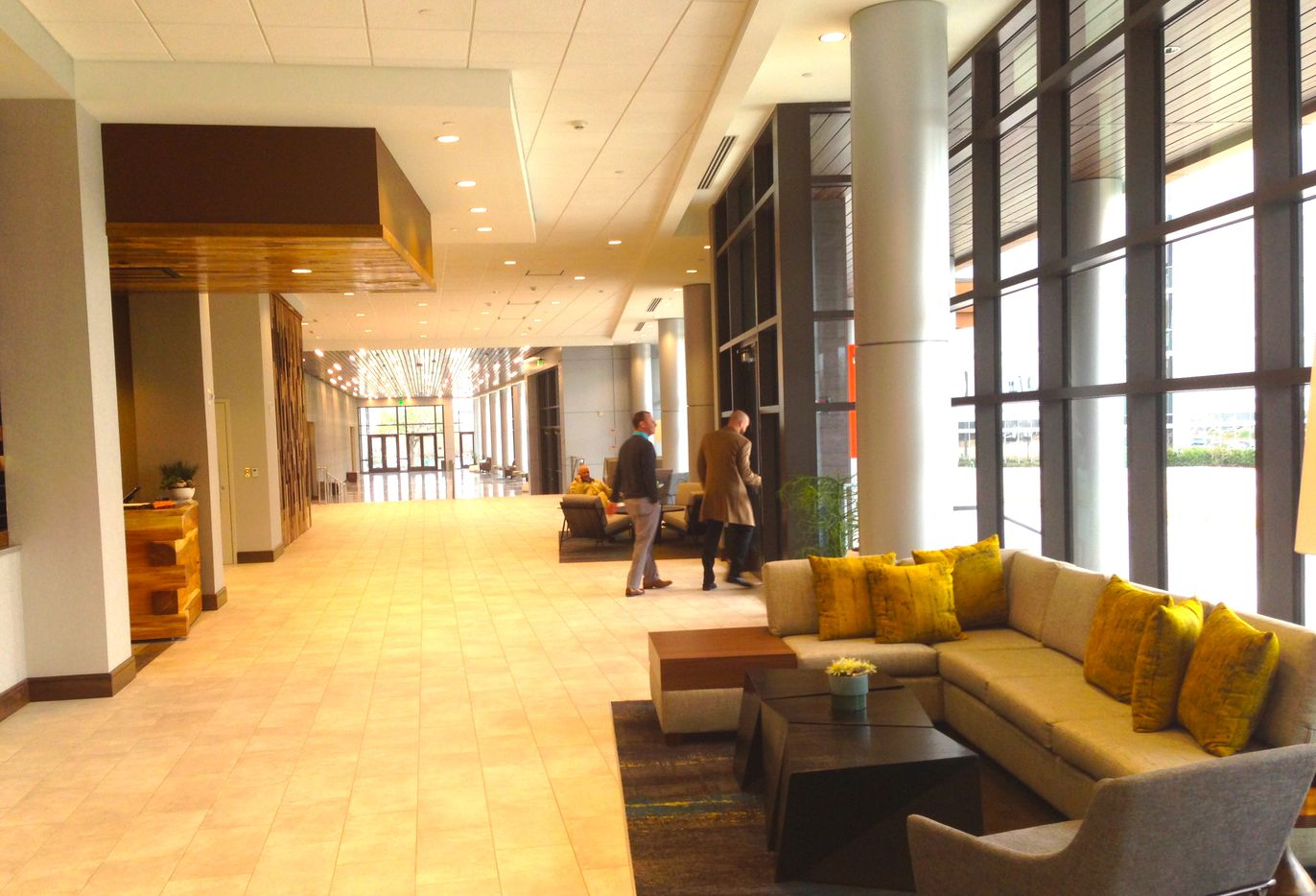 The new Allen Convention Center has 90,000 square feet of meeting space.