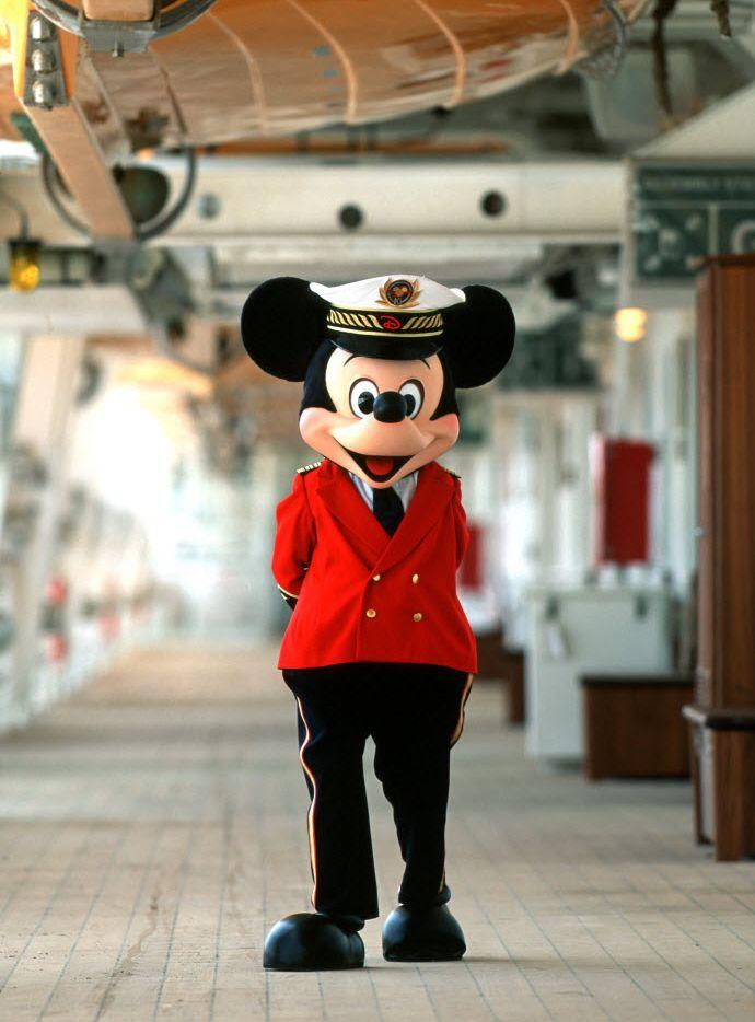 Captain Mickey Mouse aboard the Disney Magic.