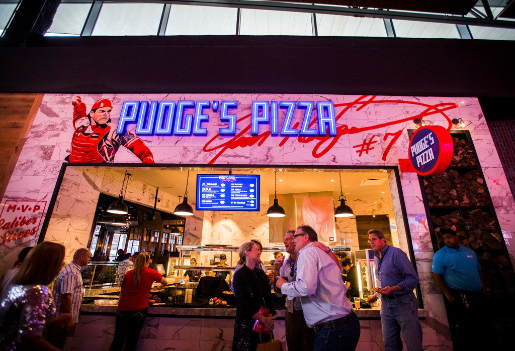 "Pudge's Pizza is an original concept from former Texas Ranger Ivan ""Pudge"" Rodriguez, now open at Texas Live in Arlington."