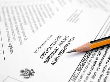 Solicitud para visa de residencia permanente.