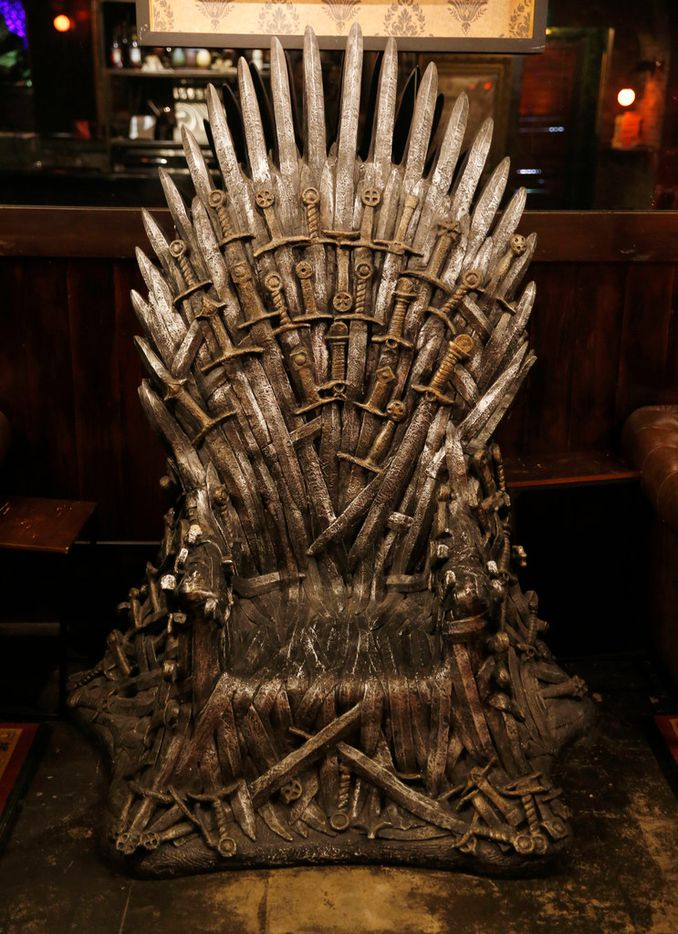 The Iron Throne sits in the Ill Minster Pub in Dallas