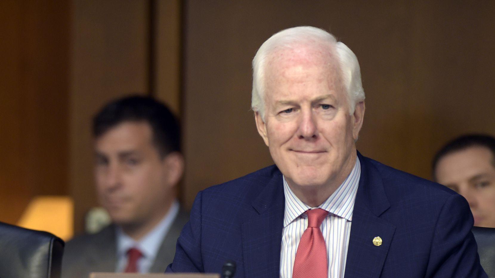 El senador republicano de Texas  John Cornyn. AP