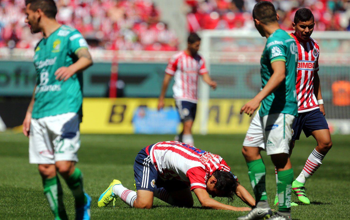 Chivas cayeron 1-0 ante León en la Fecha 6. Fotos AGENCIA REFORMA