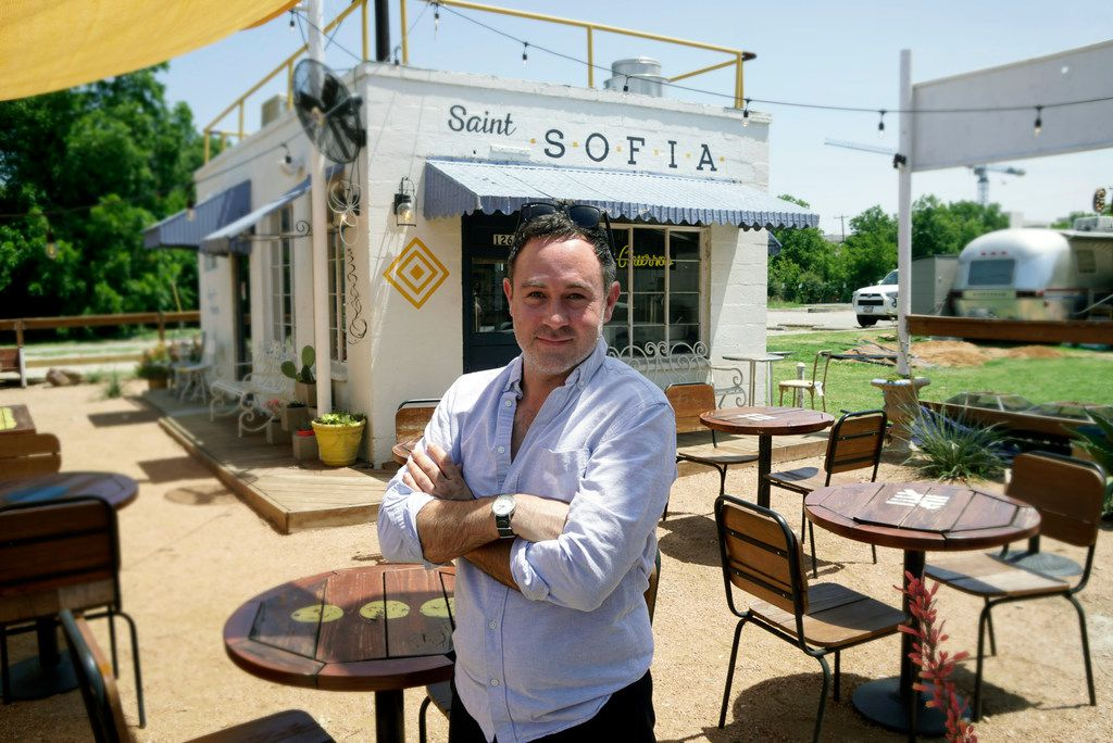 Saint Sofia's owner Tyler Casey at his shop in Fort Worth, Texas