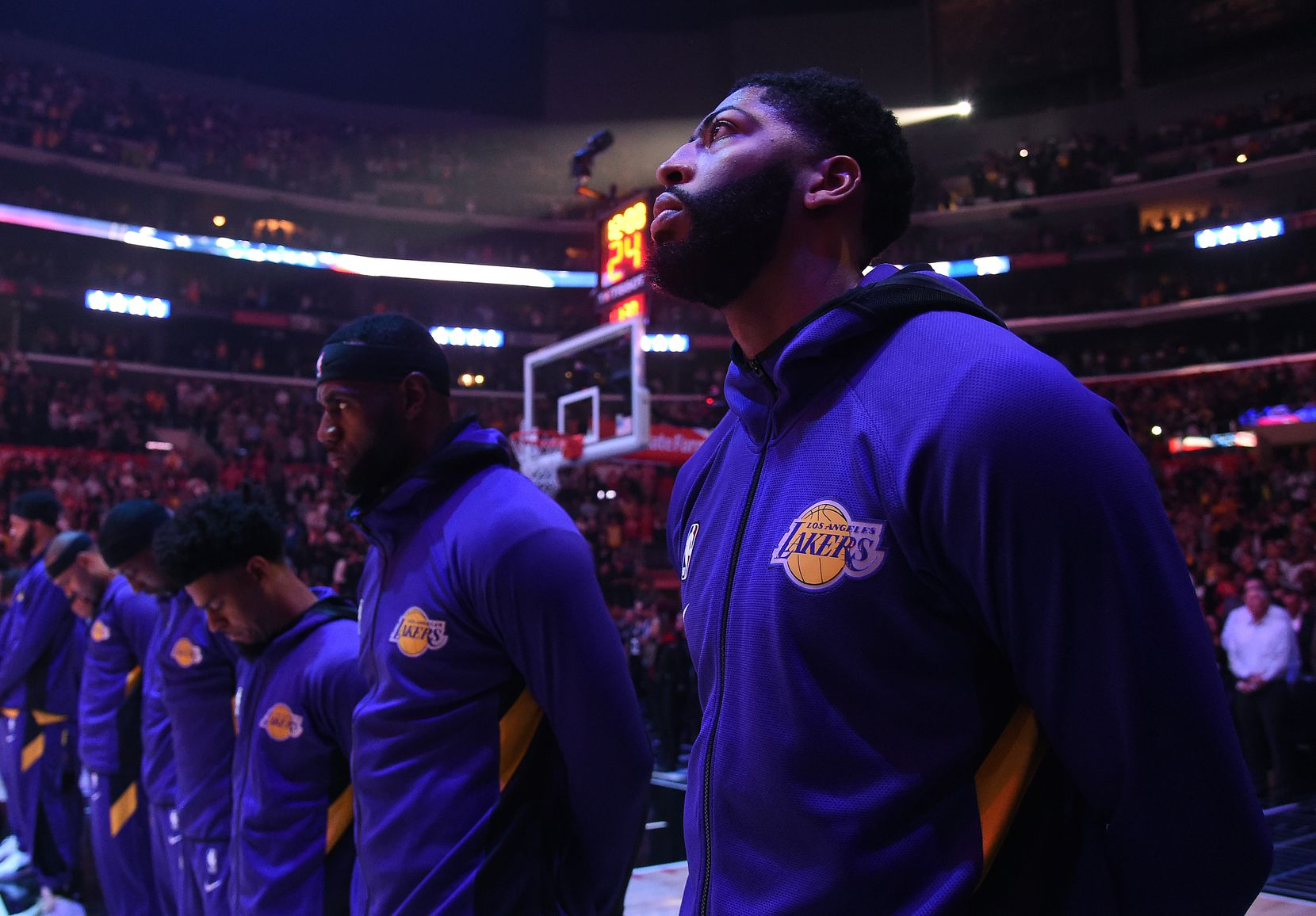 Los Angeles Lakers Anthony Davis (from right) and LeBron James provide plenty of star power at the Staples Center, which also is home to the NBA's Los Angeles Clippers.