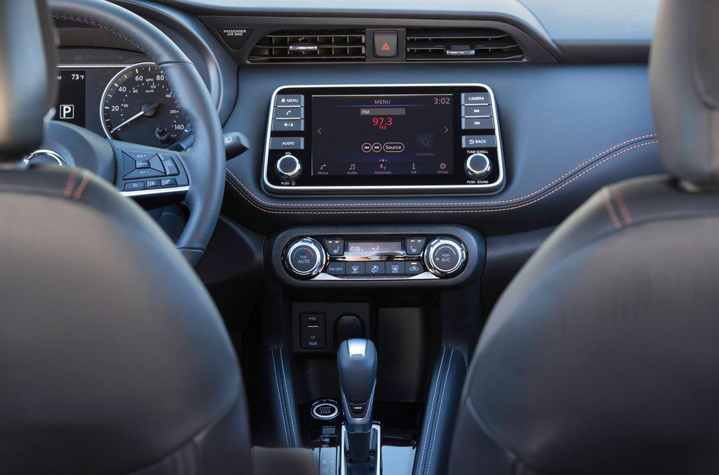 The infotainment touchscreen is responsive and intuitive.