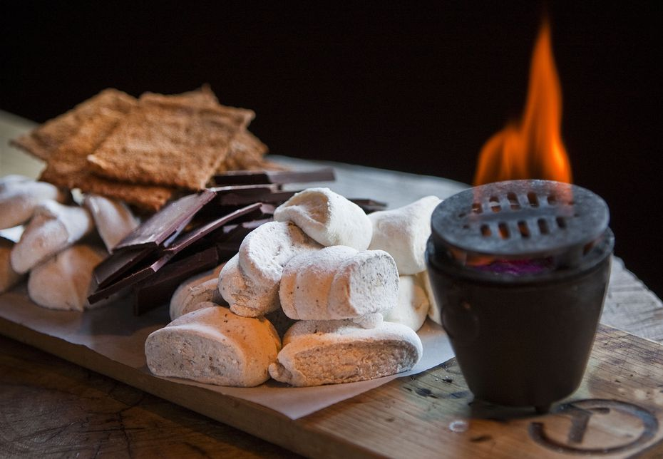 Nearly every table seemed to order the s'mores at Tillman's.