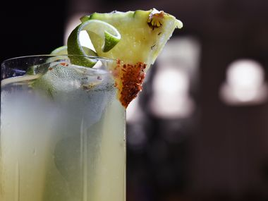The Kitchen at Commons Club, the restaurant on the ground floor of the Virgin Hotel, opens Dec. 15, 2019. The cocktail menu includes the Galactic, made with Astral tequila, ancho reyes, pineapple and lime.