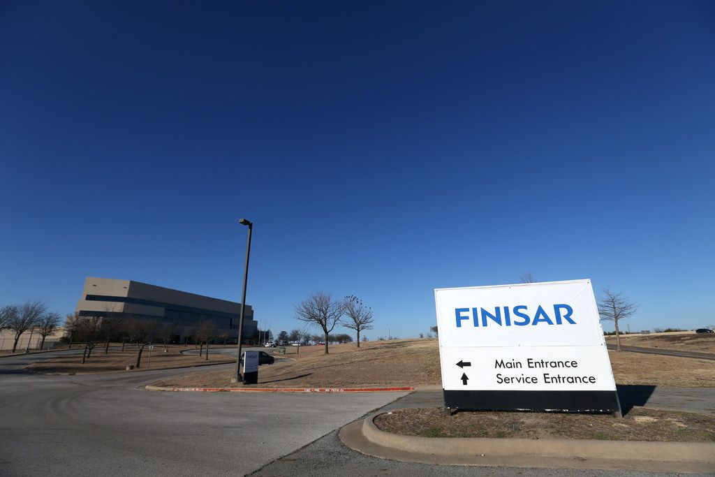 Exterior of the future site of Finisar in Sherman, Texas on Tuesday, Jan. 16, 2018. The company manufactures vertical cavity surface emitting lasers, also known as VCSELs, which can be used in smartphones and other devices for features such as facial recognition. A similar facility will open in Sherman, Texas thanks in part to funding from Apple. (Rose Baca/The Dallas Morning News)