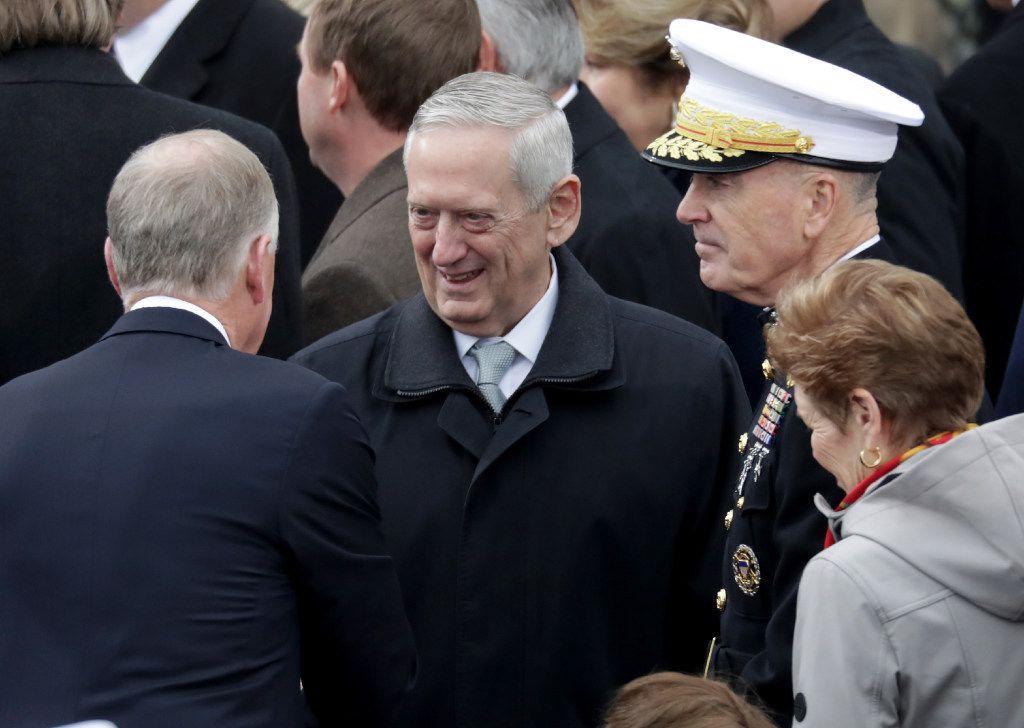 Retired Gen. James Mattis (center) is President Donald Trump's pick for defense secretary.  (Chip Somodevilla/Getty Images