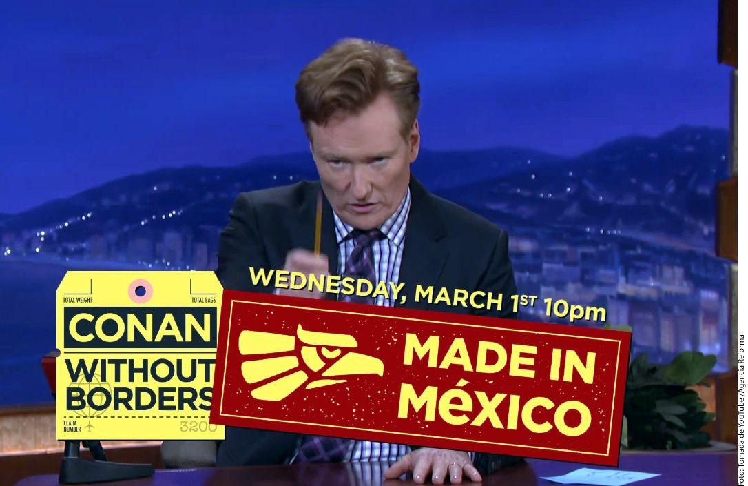 El presentador estadounidense de televisión, Conan O'Brien (foto), busca reparar las relaciones entre Donald Trump y Enrique Peña Nieto, quienes informaron a través de Twitter que su reunión estaba cancelada./ AGENCIA REFORMA