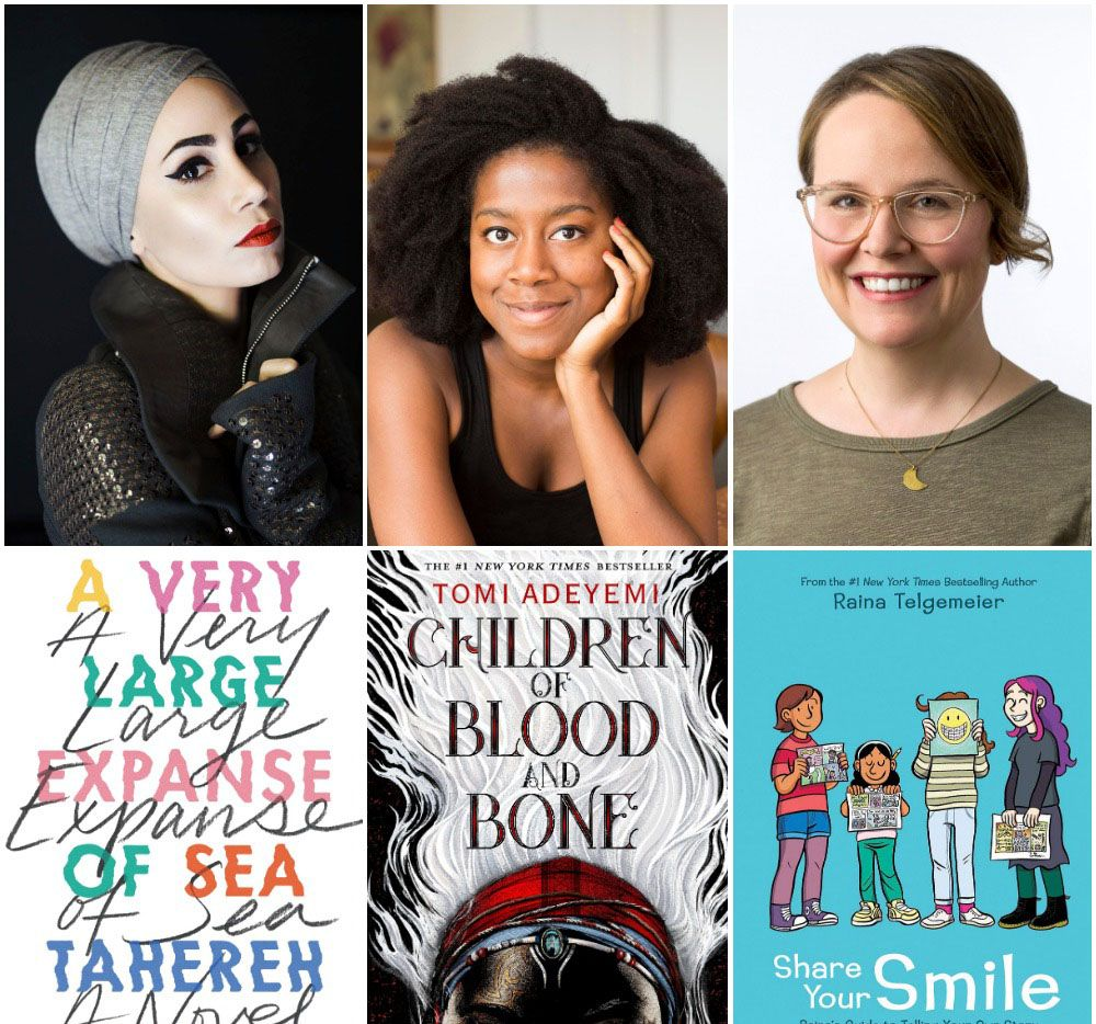 The North Texas Teen Book Festival will be headlined by (left to right)   Tahereh Mafi, Tomi Adeyemi and Raina Telgemeier.