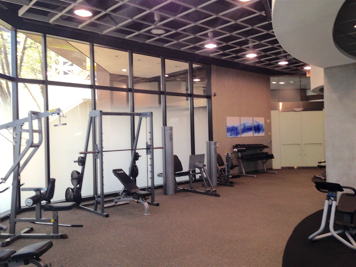 The new fitness center in the Crossings offices.