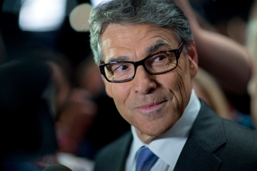 Rick Perry, former Texas governor, has been picked to head the Energy Department. He has supported fossil fuels and wind power. (Andrew Harrer/Bloomberg)