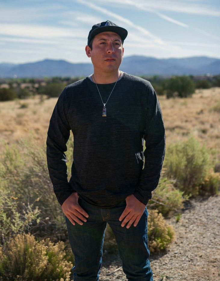 Tommy Orange, the author of There There,  at the Indian American Institute of Art in Santa Fe, N.M., where he teaches.