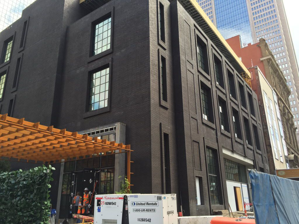 Forty Five Ten will open at 1615 Main St. in downtown Dallas on Nov. 12.  Photo taken on Sept. 6, 2016, so yes, those barricades will be gone.