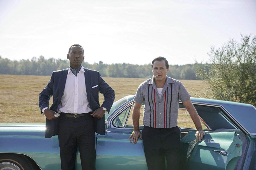 Green Book, starring Mahershala Ali (left) and Viggo Mortensen, is nominated for best picture at the 91st Academy Awards,  scheduled to air Sunday at 7 p.m. on ABC.