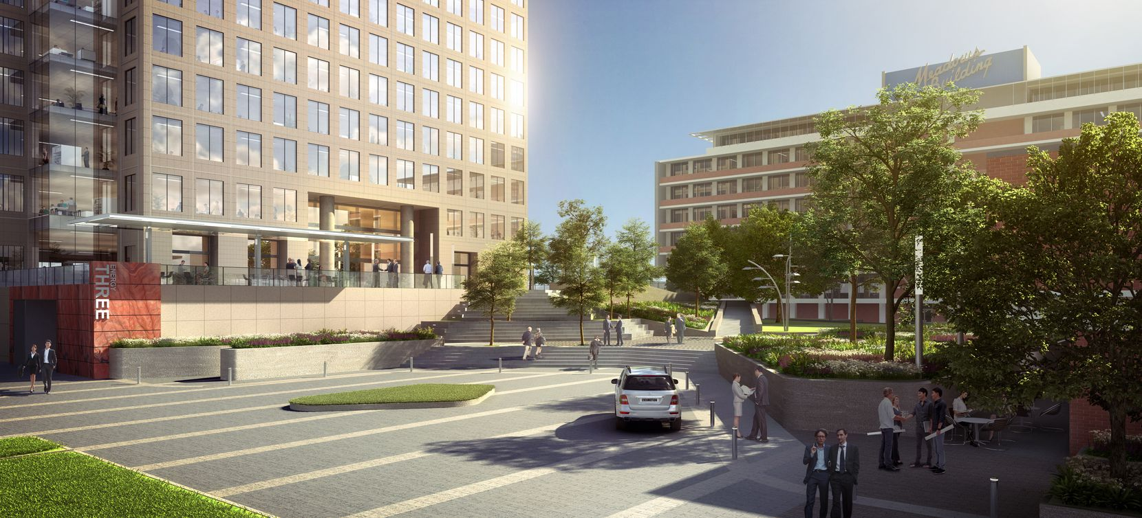 The Energy Square office buildings will get new entrances.