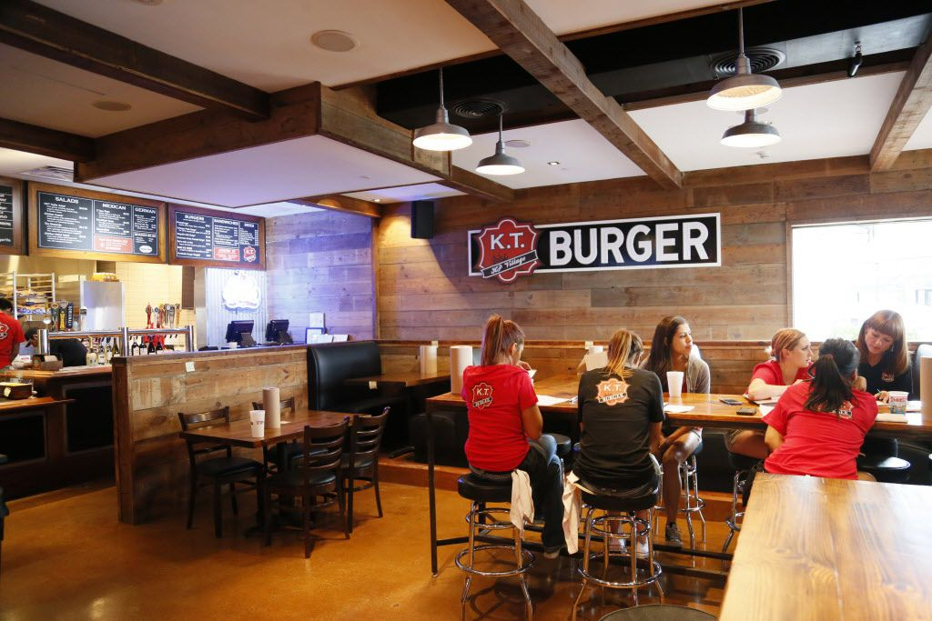 An interior view of a dining area at K.T. Burger