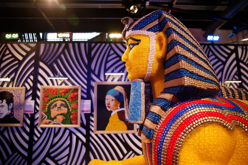 Haven't seen the Mona Lisa in person? Candytopia's candy art gallery displays some of the world's most famous paintings and sculptures, made out of candy.