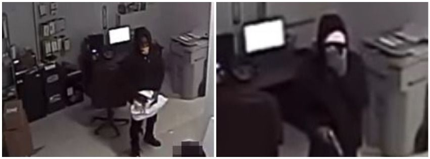 Security camera images of two suspects who police say robbed a T-Mobile store in Wylie.