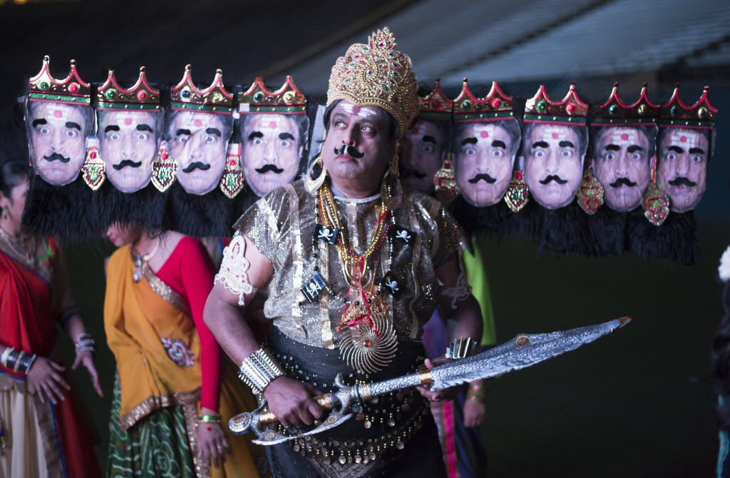 Dr. Prakash Kagal was dressed for his role the Hindu drama Ramleela during a 2015 Diwali event at the Cotton Bowl in Dallas.
