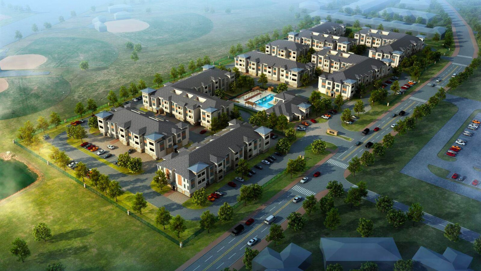 The Garden Valley Apartments will have eight buildings.