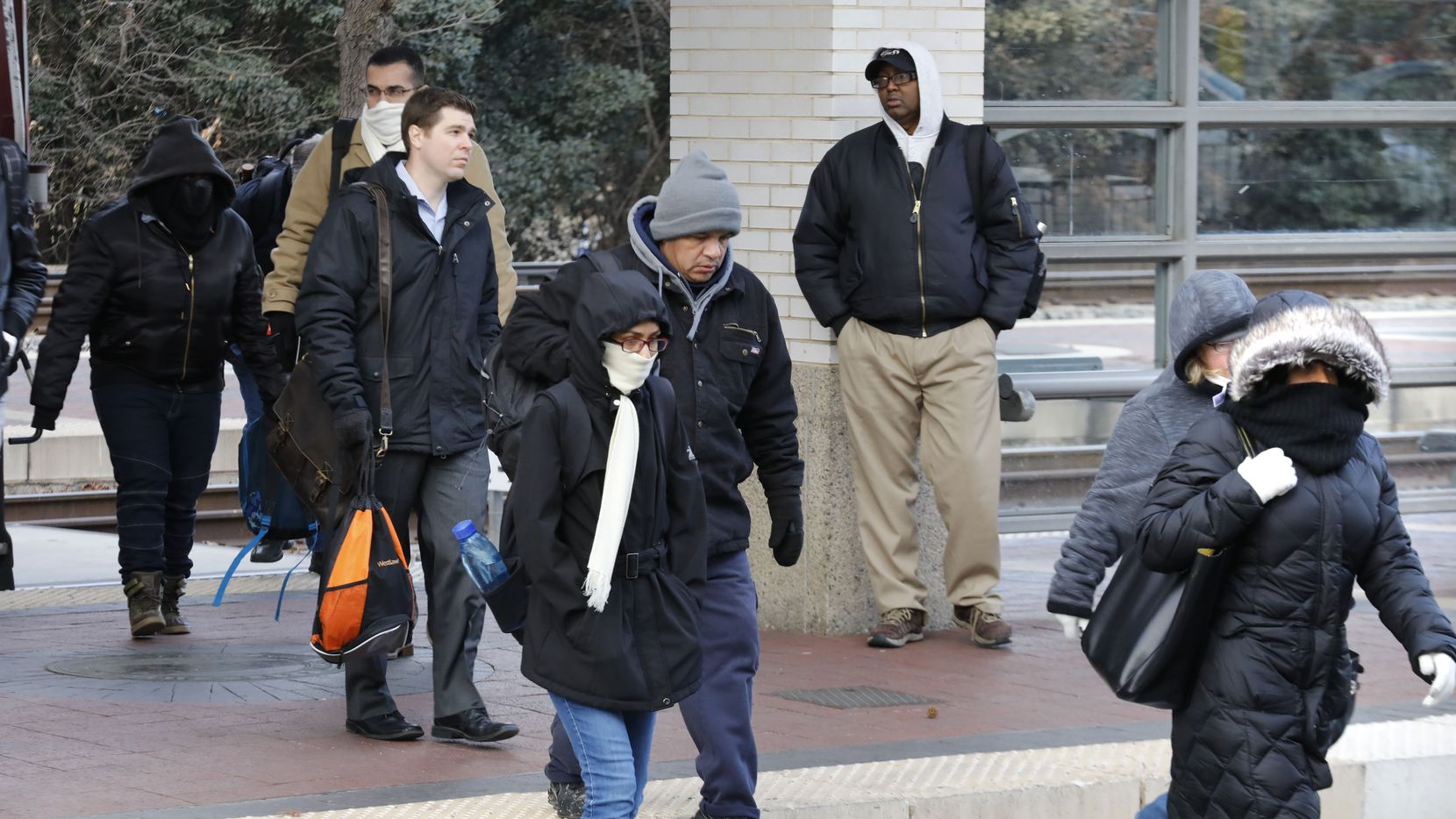 The front is expected to arrive before dawn Sunday and push temperatures into the mid-30s by Monday morning, the National Weather Service says.