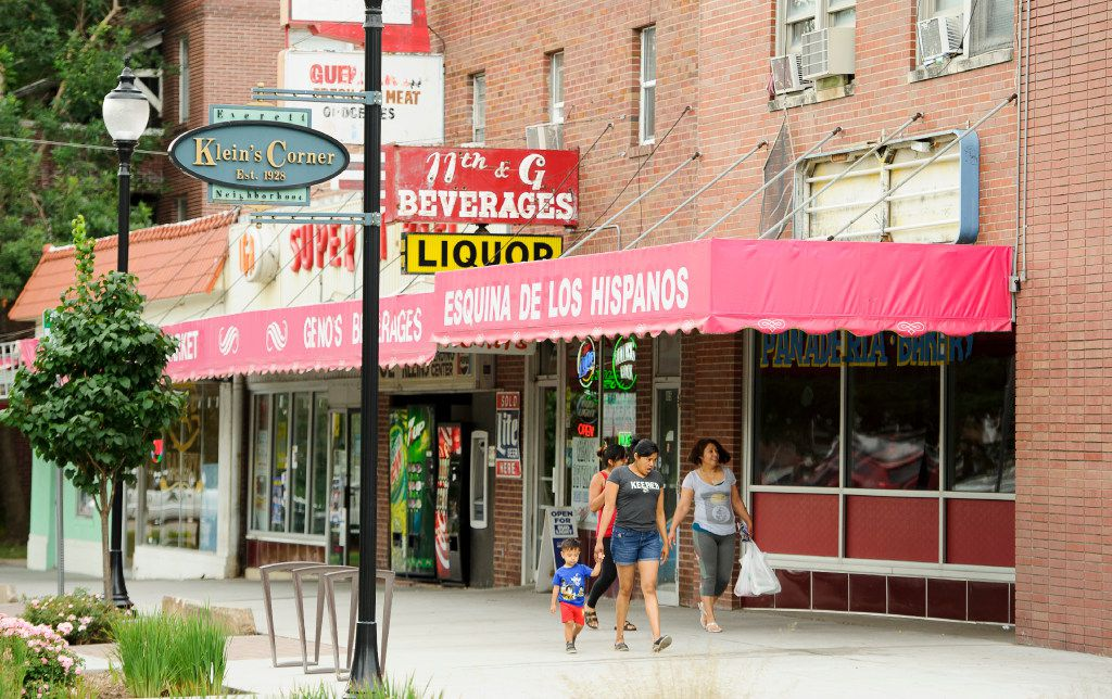 The corner of S 11th and G streets, known as Klein's Corner, is a melting pot of cultures in Lincoln, Neb., on Wednesday, July 12, 2017. The area includes a Mexican bakery, a liquor store, a small market and an Italian restaurant.