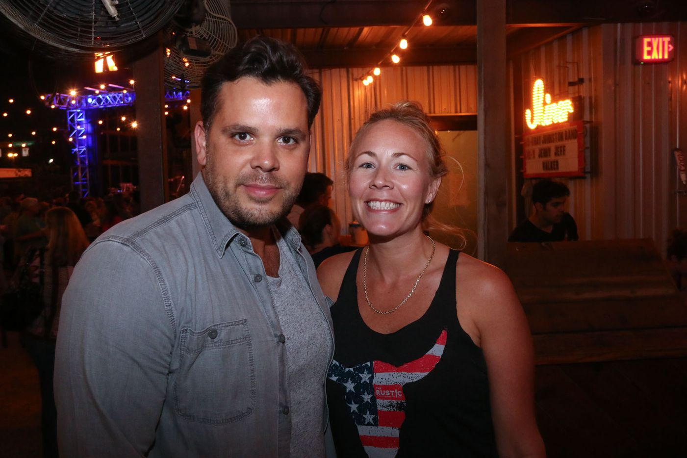 Owner Kyle Noonan and Kara Cook at The Rustic in Uptown on October 9, 2015.