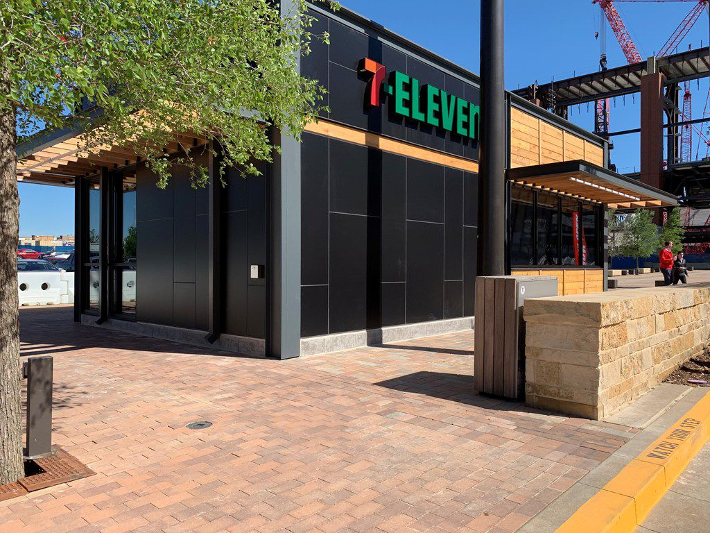 This 7-Eleven opened on April 19, 2019 in Arlington s new entertainment district, Texas Live.