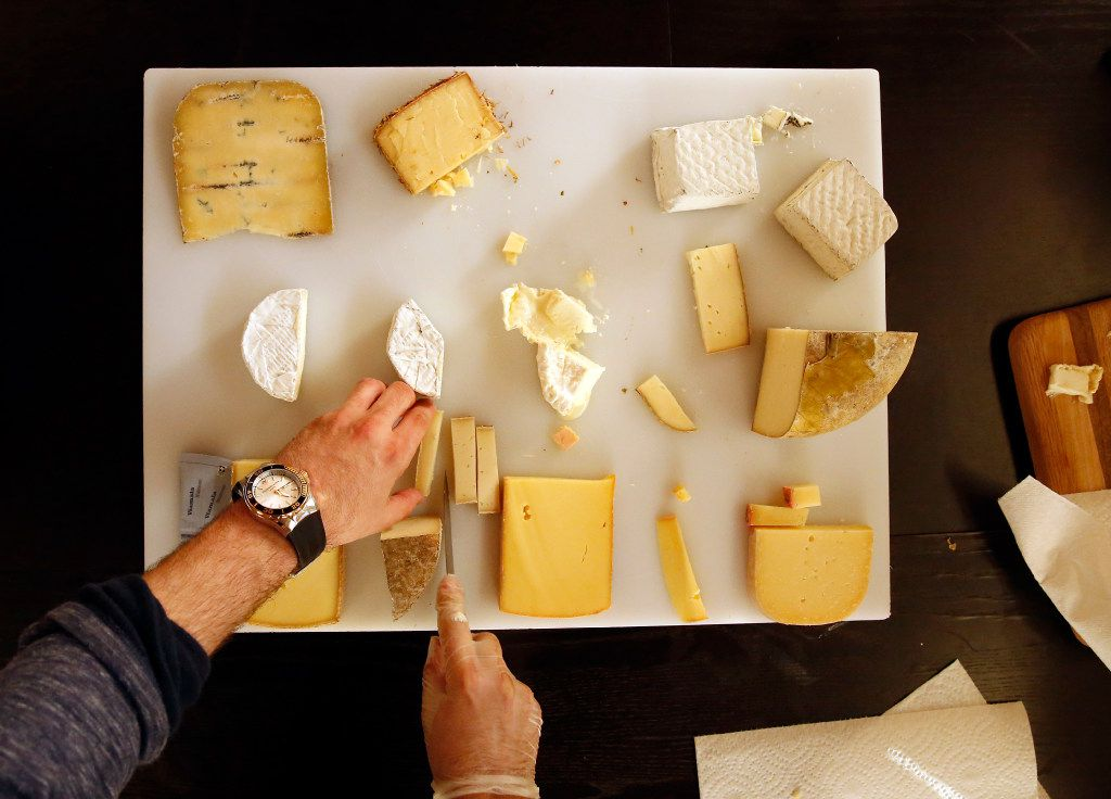 Regalis TX hosted a cheese tasting for a group from the Adolphus Hotel at their Texas Ice House offices and coolers, Wednesday, February 1, 2017.  The Adolphus contingent is shopping for foods and services for The French Room which is being renovated along with the hotel in downtown Dallas.