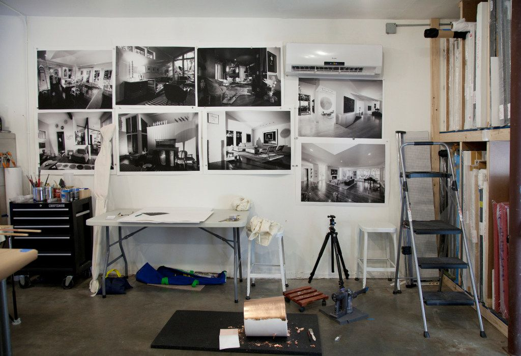 Nic Nicosia's studio includes work for his installation at Erin Cluley Gallery. (Nan Coulter/Special Contributor)