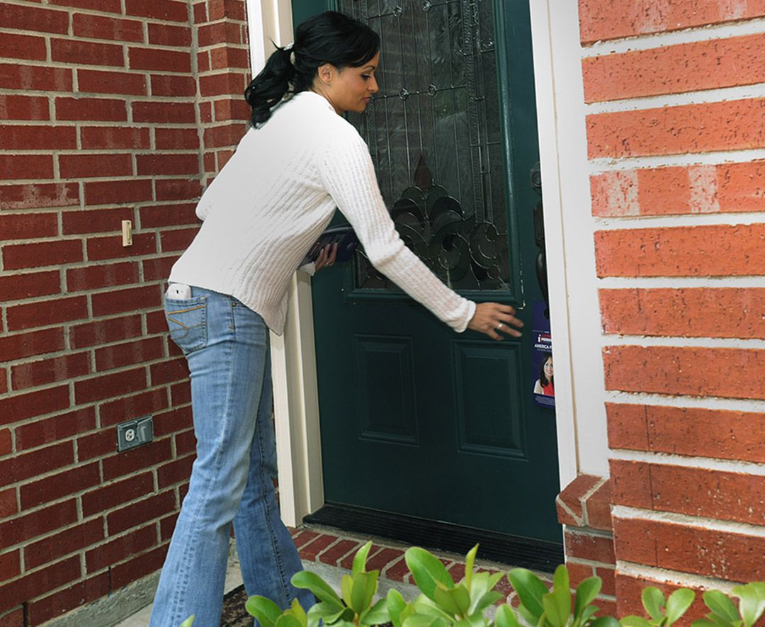 As a candidate for office in October 2013, Tea Party activist Katrina Pierson placed her information on the door of a Rowlett, Texas home while challenging Rep. Pete Sessions (R-TX) for his seat in Congress.
