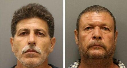 José García (izq.) and José Barrazza (der.) fueron arrestados en Denton por supuesta posesión de metanfetaminas