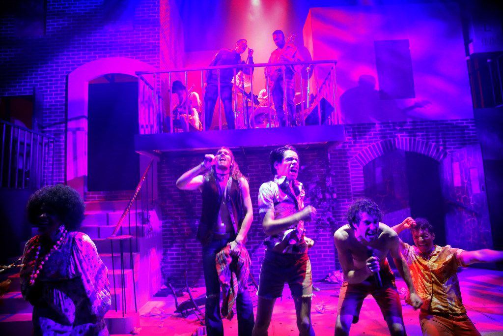 The cast of Hit the Wall, at WaterTower Theatre in Addison.