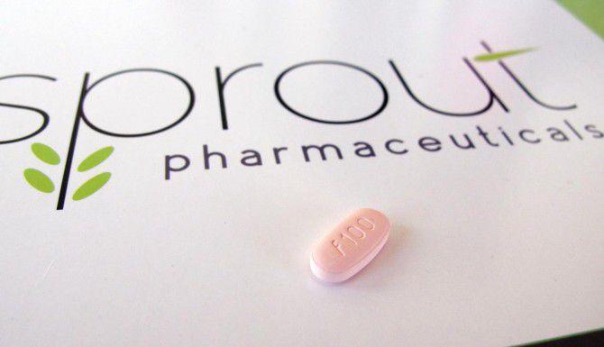 Una tableta de flibanserin de Sprout Pharmaceuticals. (AP/ALLEN G. BREED)