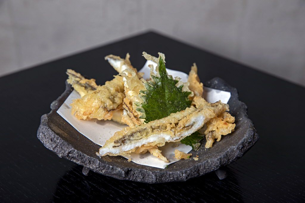Morning-cured eel tempura at Tei-An