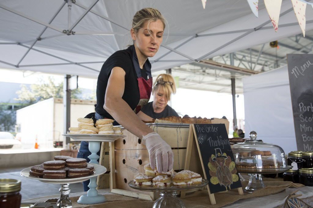 Tina Miller, owner of The Proper Baking Co., opened her shop for business at the Dallas Farmers Market in Dallas, Texas, Sunday, November 8, 2015. (Allison Slomowitz/ Special Contributor)