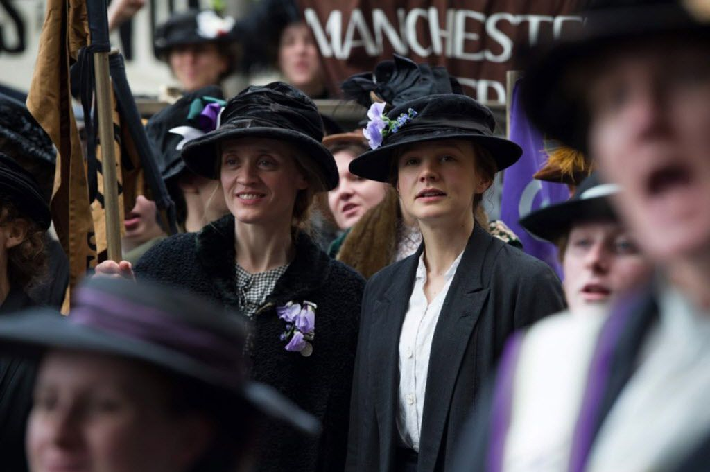 """Anne-Marie Duff and Carey Mulligan in """"Suffragette."""" (Photo courtesy Focus Features/TNS)"""