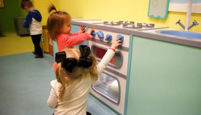 Un nuevo centro recreativo para niños en edad preescolar acaba de abrir sus puertas en Grapevine Mills.  Vernon Bryant/The Dallas Morning News)