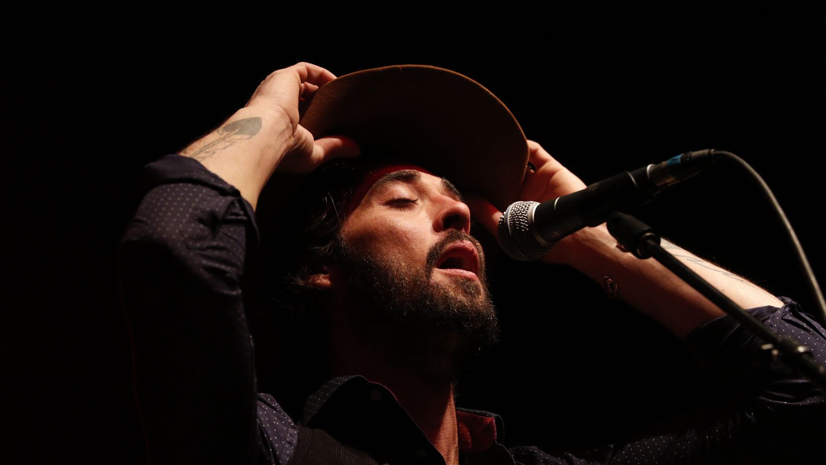 Ryan Bingham performs at South Side Ballroom in Dallas on March 6, 2015.