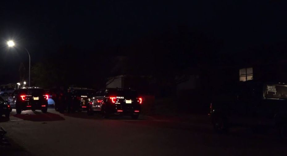 An image from the scene from video footage captured by Metro Video Dallas/Fort Worth.