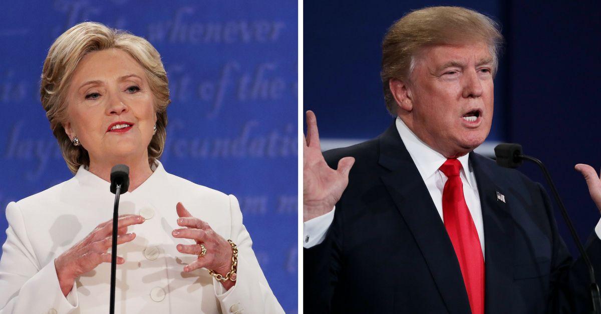 Hillary Clinton y Donald Trump se enfrentaron en el tercer y último debate por la presidencia de Estados Unidos./GETTY IMAGES