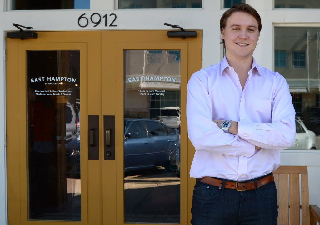 Hunter Pond, 25, opened East Hampton Sandwich Co. in Snider Plaza in 2012.