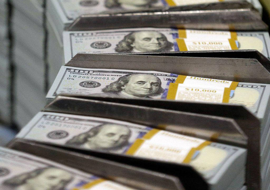 File photo of U.S. $100 bills.
