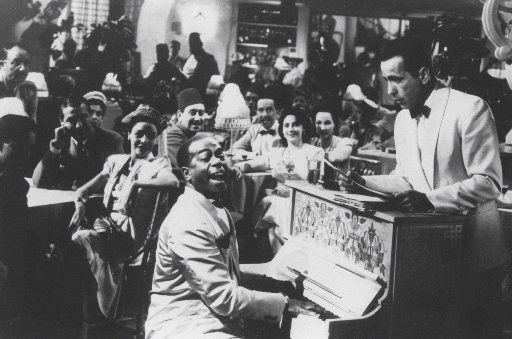 Dooley Wilson and Humphrey Bogart in Casablanca.